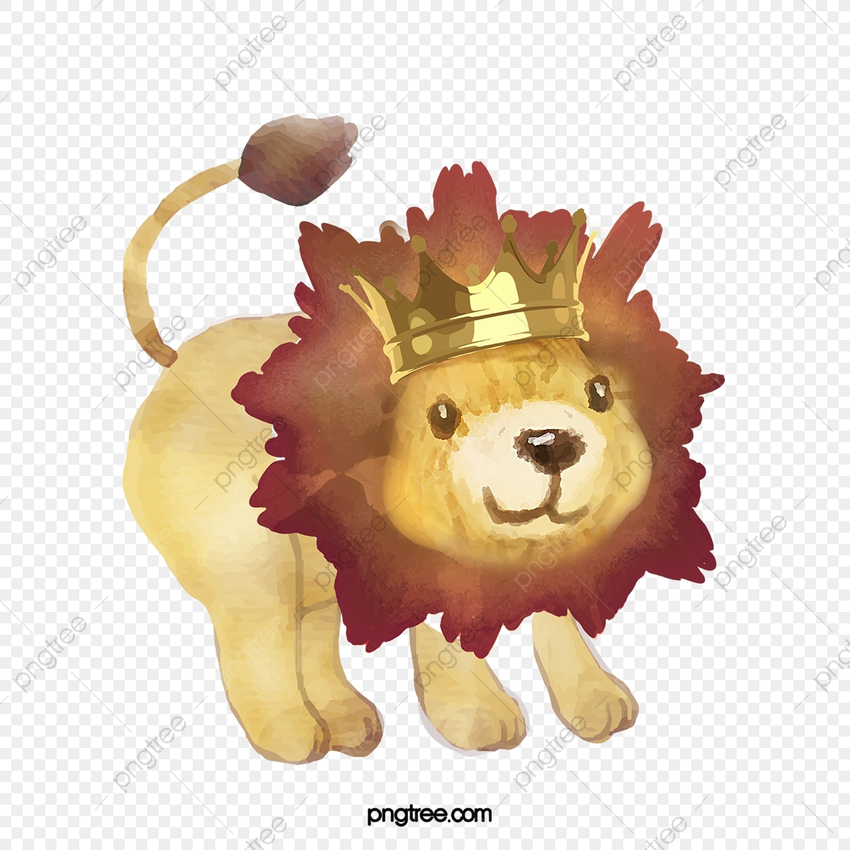 Crown Lion Hand Drawn Cartoon Watercolor Element Lion King Lion King Clipart Lion Crown Png Transparent Clipart Image And Psd File For Free Download A lion king above a trunk vector. https pngtree com freepng crown lion hand drawn cartoon watercolor element lion king 4961821 html