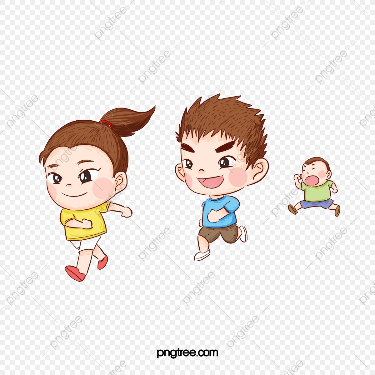 Cute Big Eyes Kid Running Lovely Big Eyes Child Png Transparent
