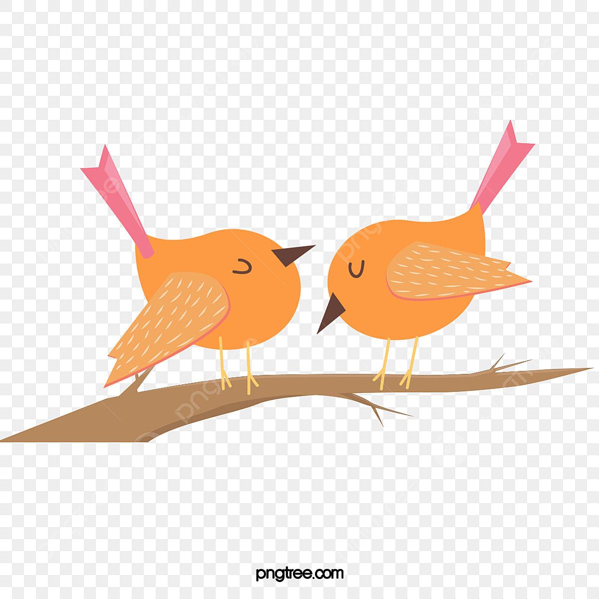 Jolie Illustration D Oiseau Sur Une Branche De Dessin Anime