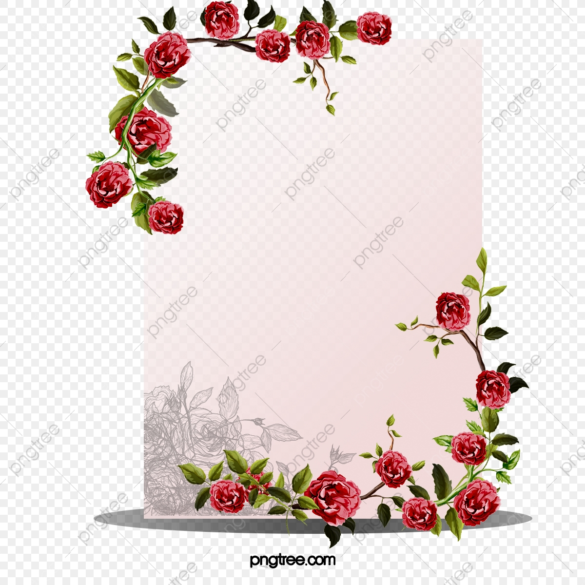 Quadro De Flor Delicada Dos Desenhos Animados Mao Ilustracoes