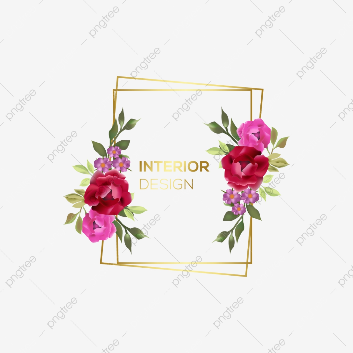 Floral Frame Clipart Floral Watercolor Frame Floral Watercolor