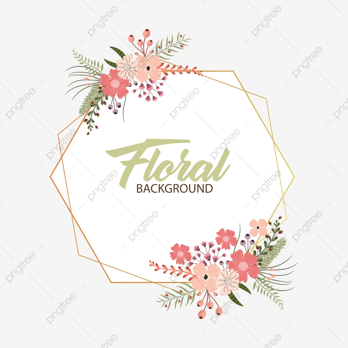 Floral Wreath Vector Wreath With Flowers And Leaves