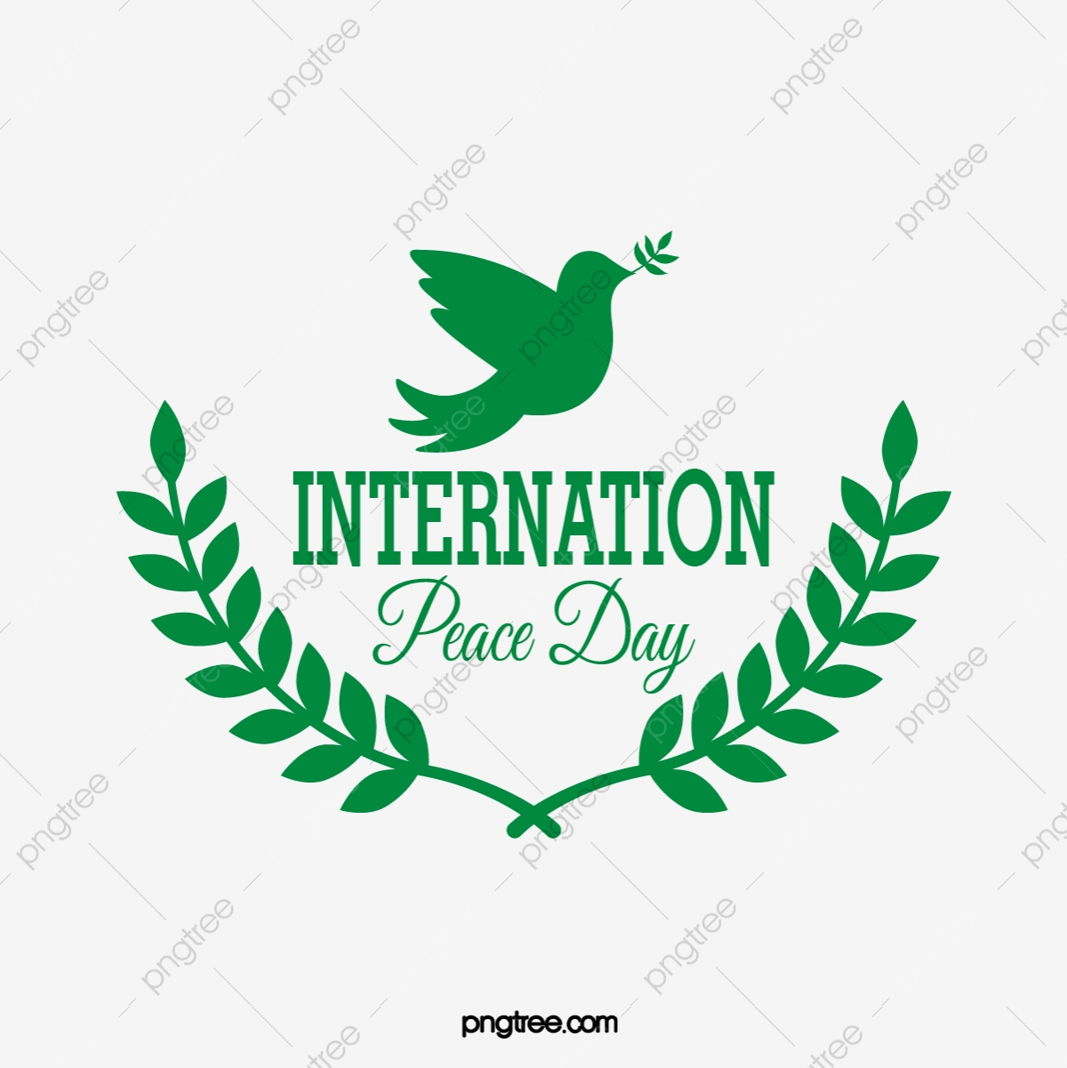 Green Creative Leaves International Peace Day Creative Badge Logo Green Creative Leaf Png And Vector With Transparent Background For Free Download