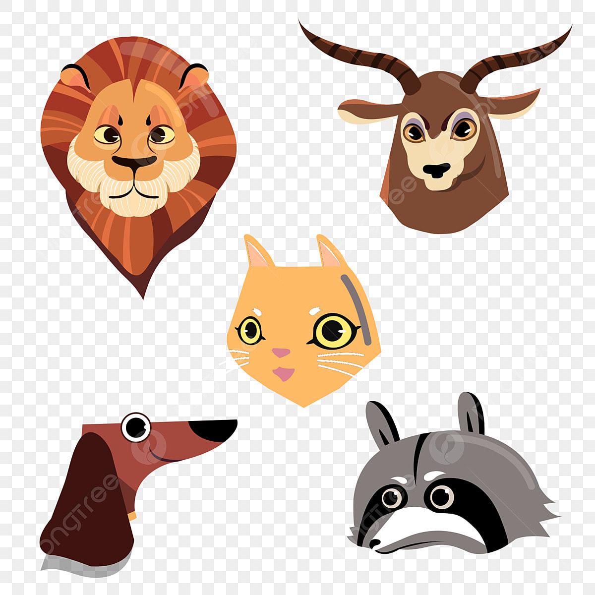 Animal De Mao Desenhada Dos Desenhos Animados Leao Antilope