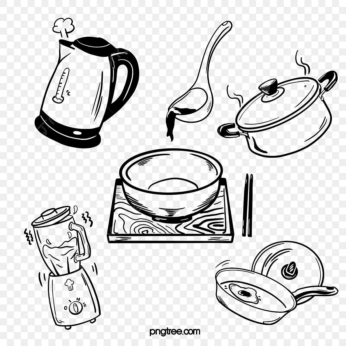 Cuisine Ustensiles De Cuisine Pots Mélangeur Vaisselle Noir