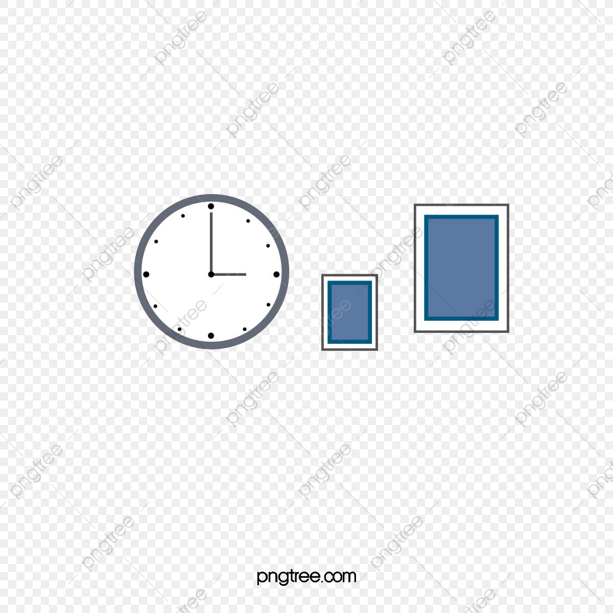 Horloge De Bureau Originale horloge de bureau peinture murale, bureau, horloge, temps