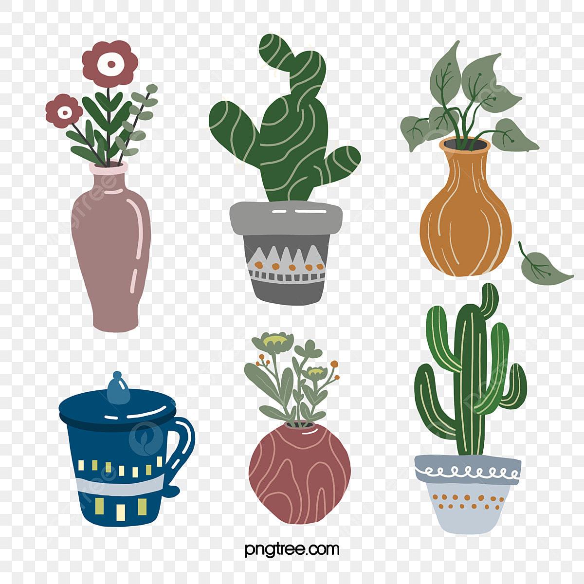 Plant Succulent Cactus Cup Morandi Decorative Sticker Cactus Succulents Plant Png Transparent Clipart Image And Psd File For Free Download
