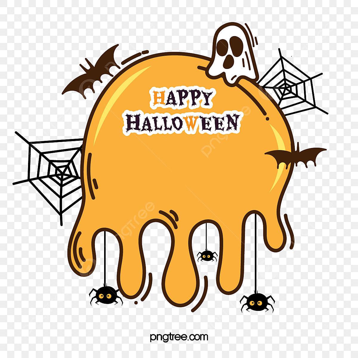 Bordure D Halloween De Dessin Anime De Couleur Citrouille Carton