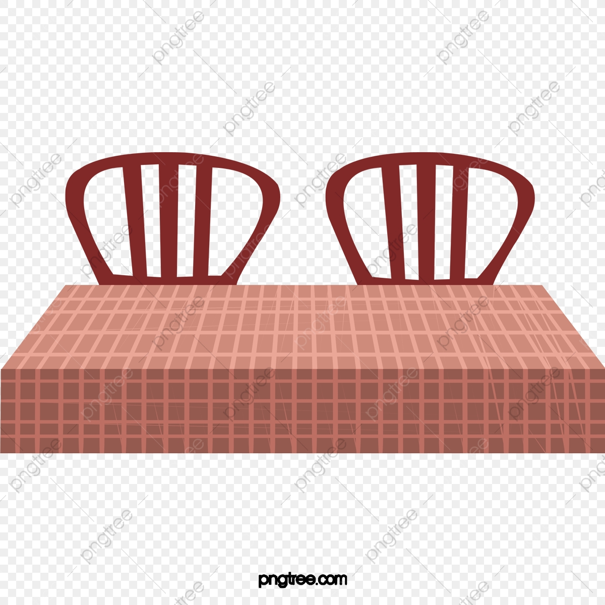 Restaurant Dining Table Chair Checkered Tablecloth