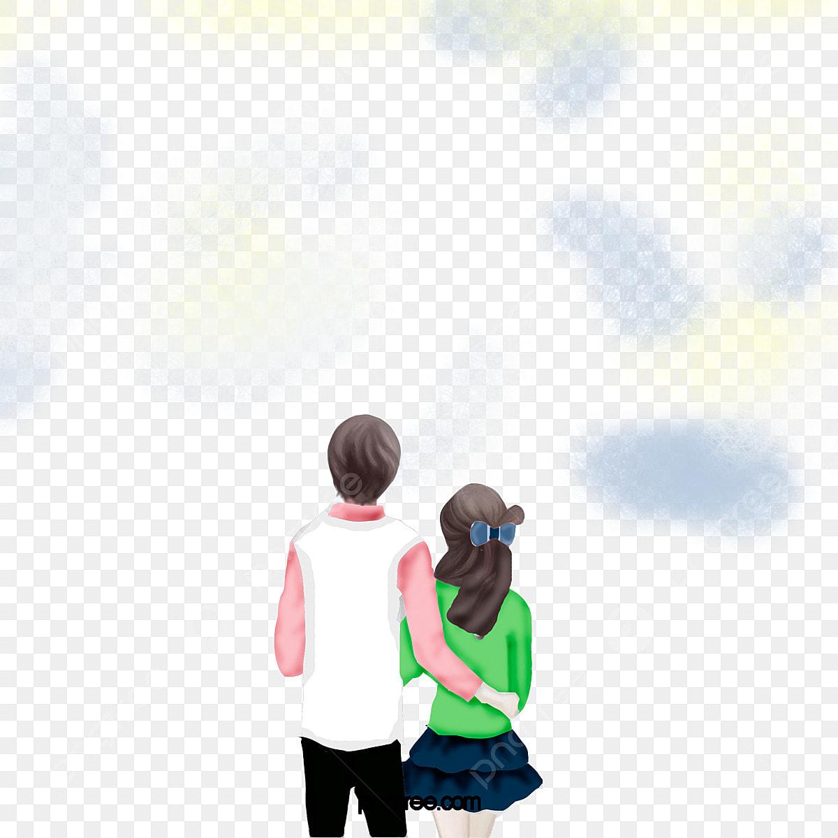 ロマンチックなカップルの後ろ姿デート ロマンチック カップル 後ろ姿画像とpsd素材ファイルの無料ダウンロード Pngtree