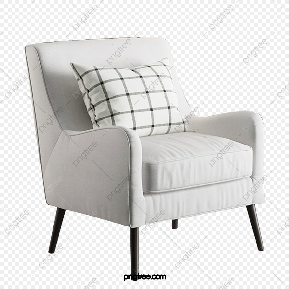 Square Mesh Pillow On White Sofa Chair White Sofa Chair
