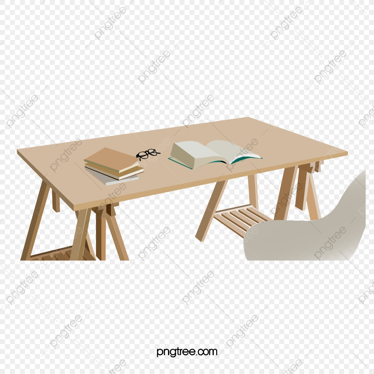 Table D Etude Et Lunettes De Lecture Bureau Chaises Book