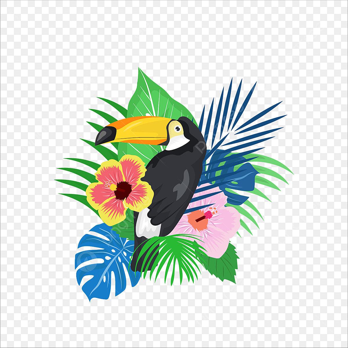 Papier Peint Avec Perroquet feuilles tropicales avec perroquet, madagascar, island