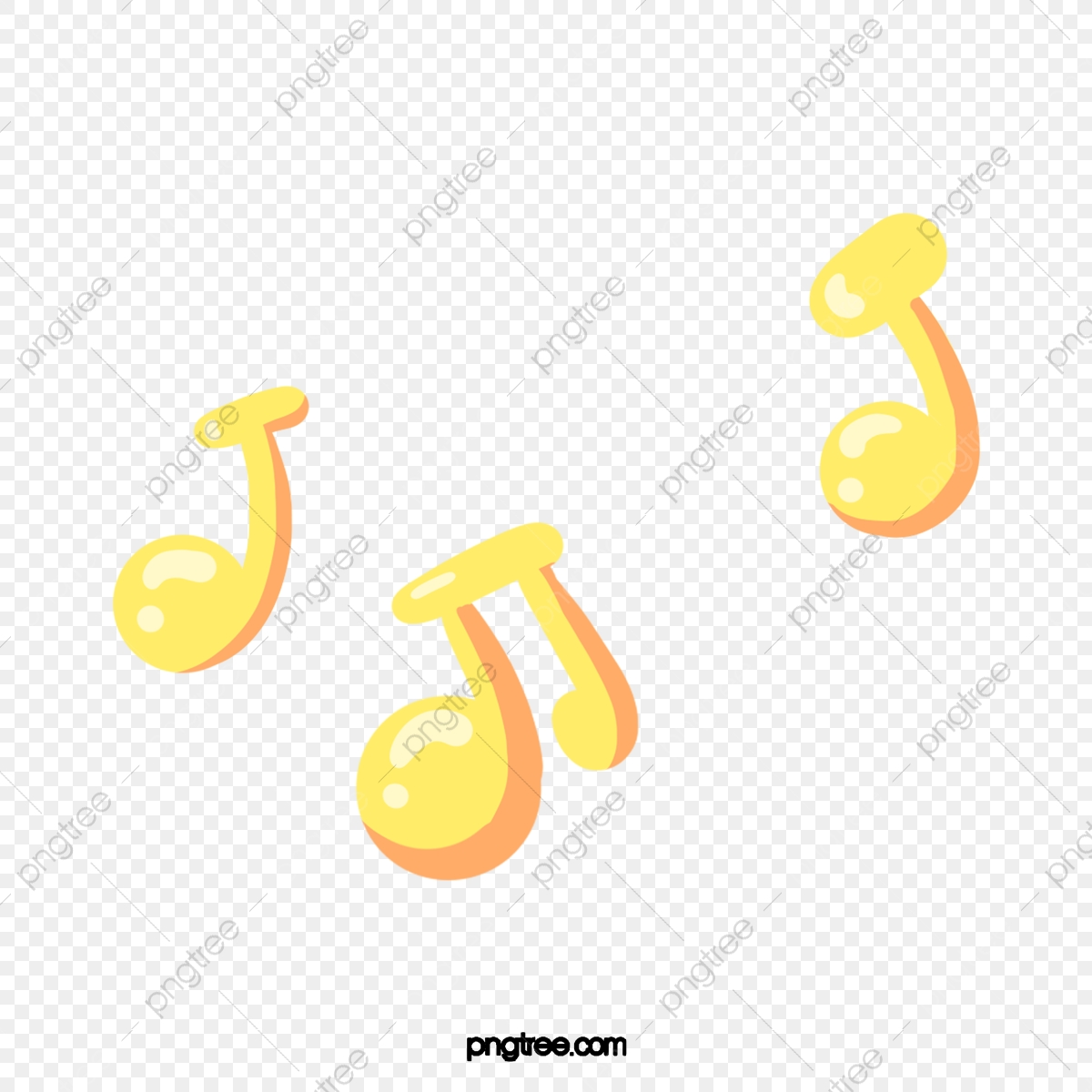 Simbolo De Musica Dos Desenhos Animados Amarelos Amarelo Cartoon
