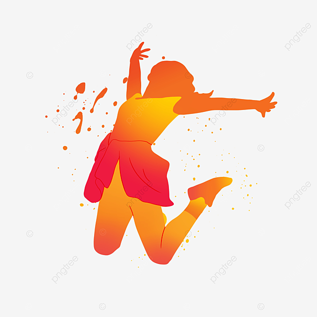 fresh painted creative characters dance silhouette