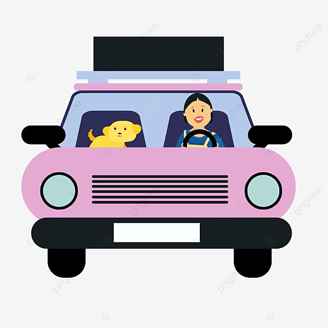kartun tangan ditarik mobil merah muda ilustrasi perjalanan luar luar ruangan perjalanan pink png transparan gambar clipart dan file psd untuk unduh gratis pngtree