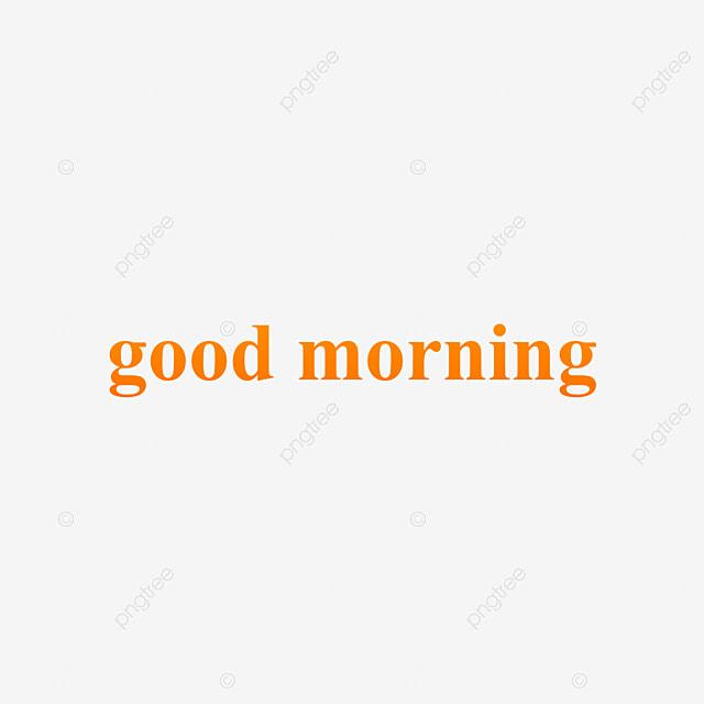 Orange Gelb Guten Morgen Schriftart Gradient Text Design