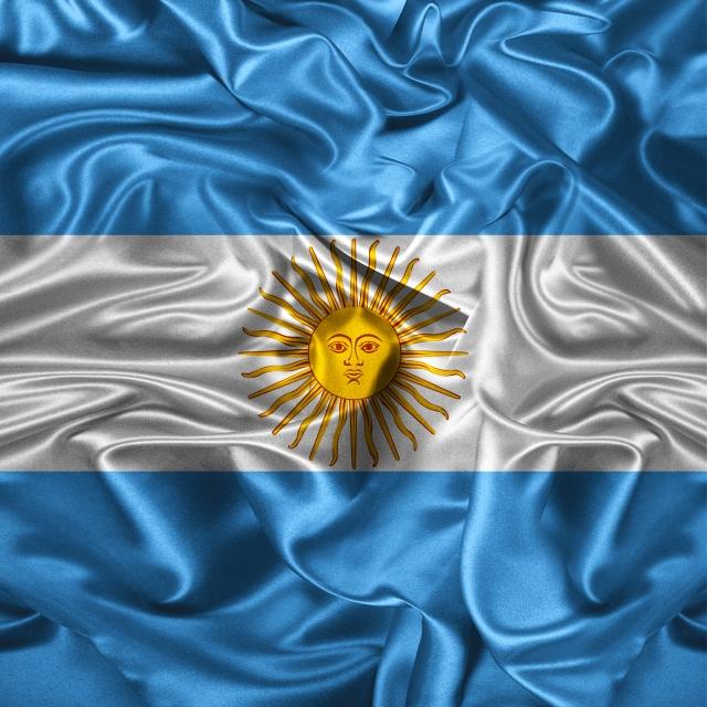 Argentina Flag Illustration Waving Vector 3d Fiber Argentina