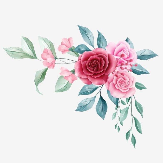 beautiful floral border for wedding or greeting card