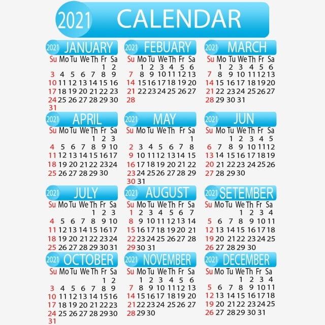 Conception De Calendrier 2021, Célibataire, Page, Calendrier