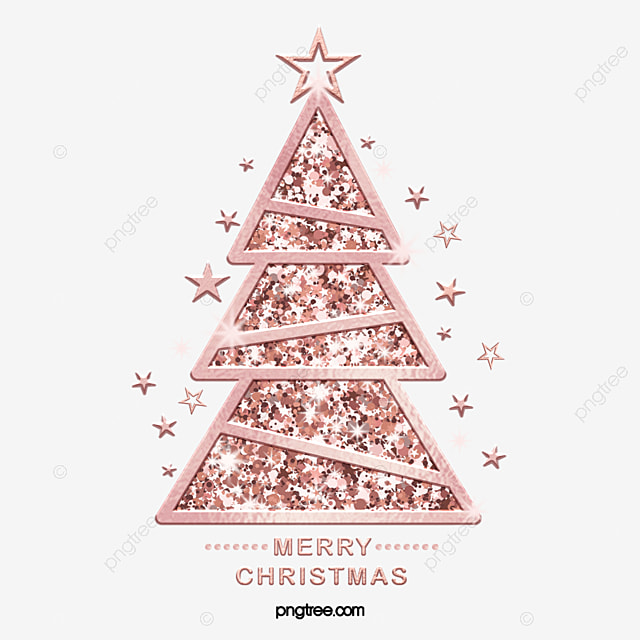 Christmas Tree Rose Gold Shines Sparkling, Rose Gold, New ... (640 x 640 Pixel)