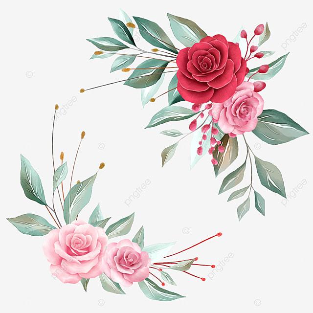 Floral Arrangements Element For Wedding Or Greeting Card