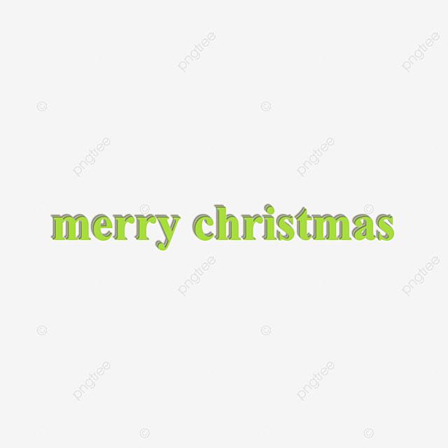 Green Merry Christmas Text Design Three Dimensional