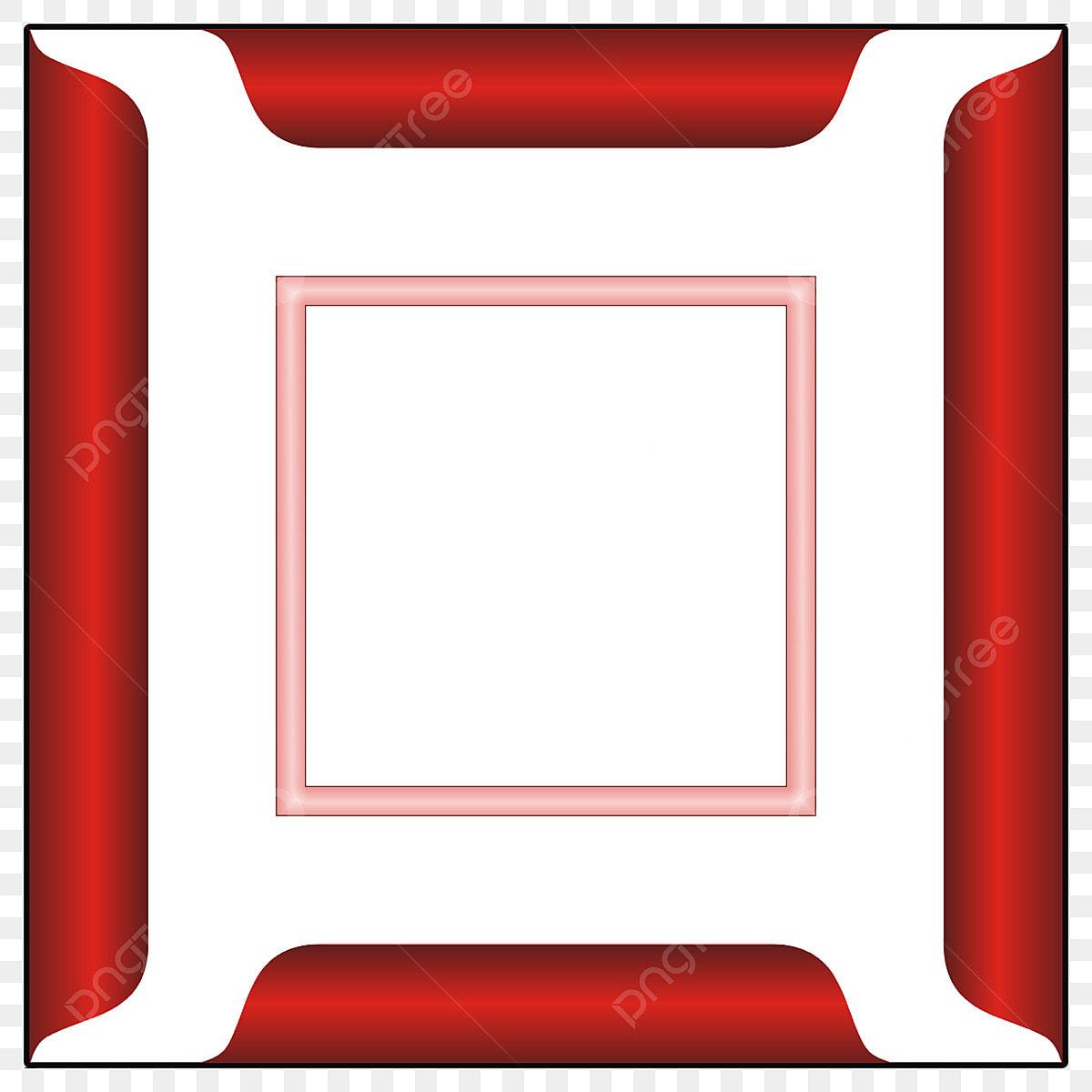Image Pour Mettre Dans Un Cadre cadre rouge 3d, cadre photo deux couleurs png, cadre photo