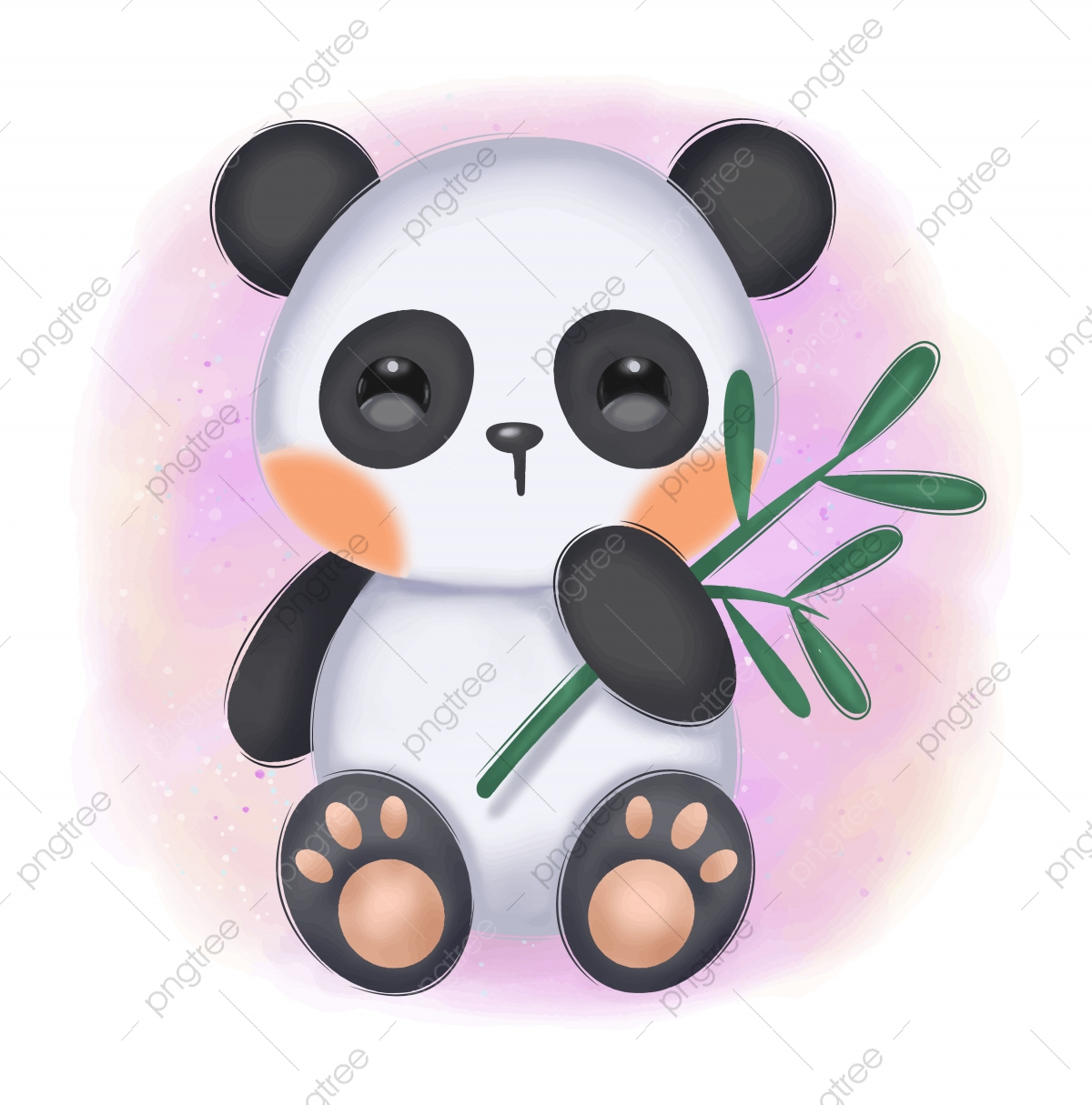Adorable Animal Illustration For Personal Project Background