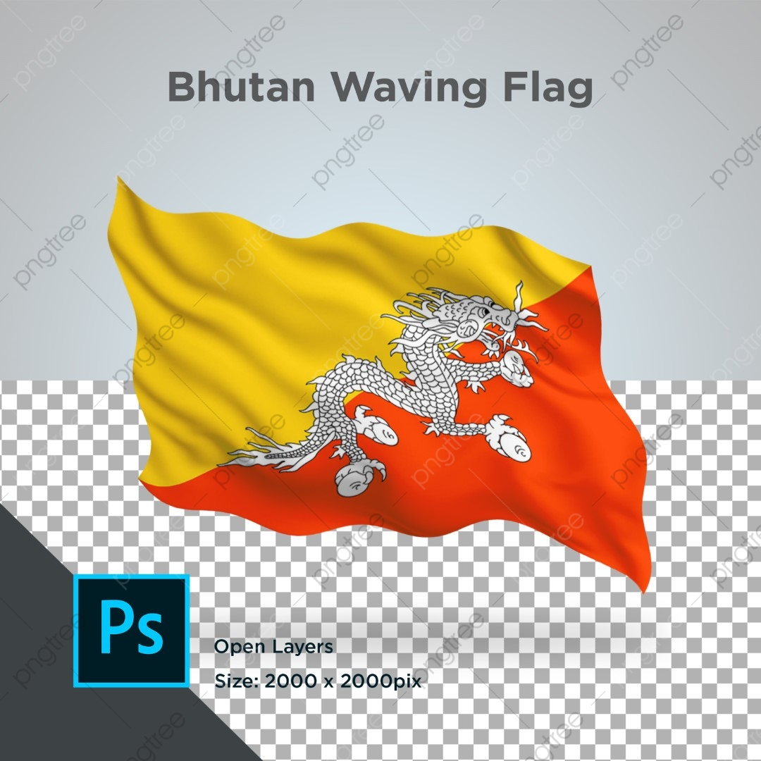 Bhutan Flag Wave Design Transparent Psd Flags Flag World Png Transparent Clipart Image And Psd File For Free Download