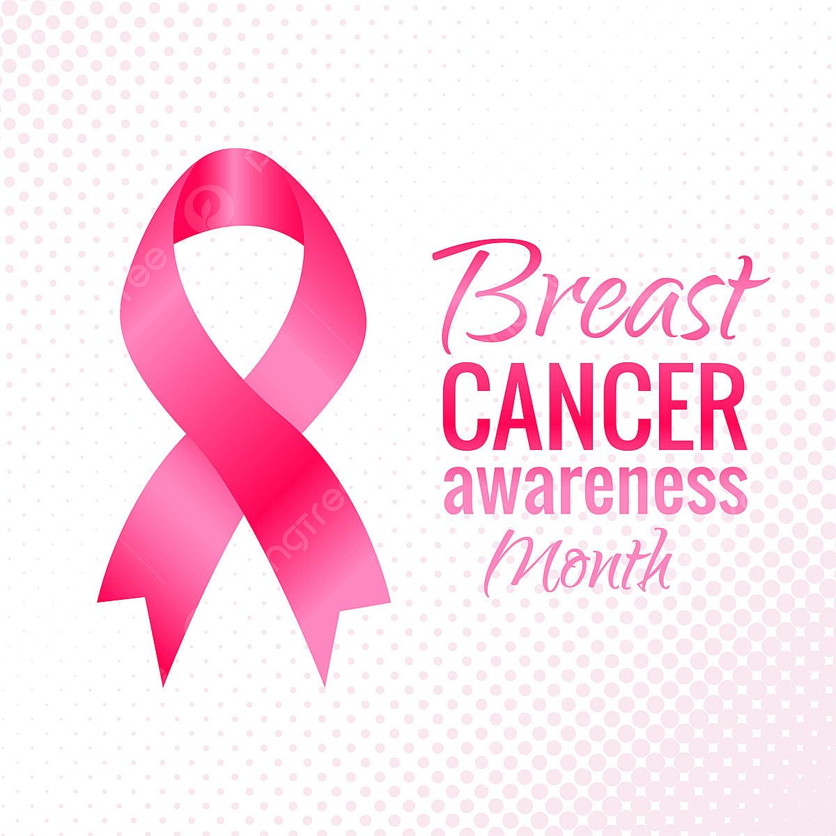 Breast Cancer Awareness Symbol Ribbon Design Vector Abstract