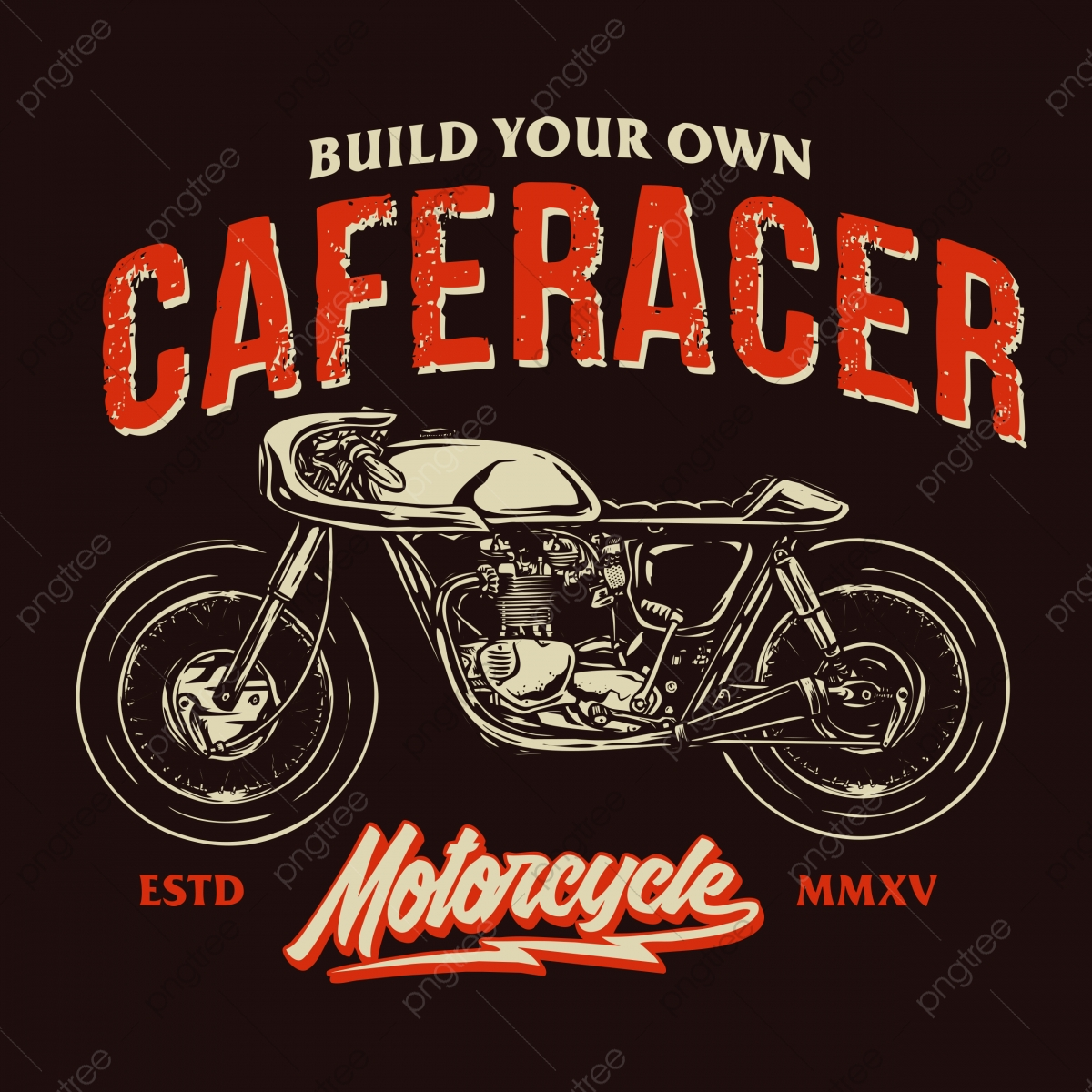 Cafe Racer Bike With Retro Design Style Classic Motorcycle Vector Motorbike Design Throttle Png Transparent Clipart Image And Psd File For Free Download