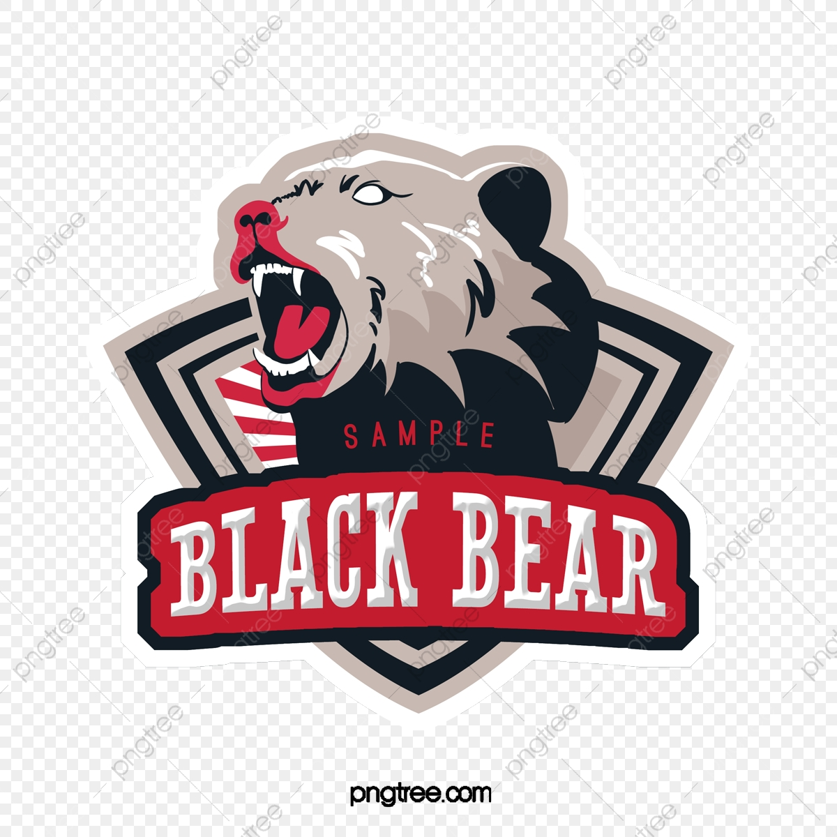 Cartoon Bear Head Avatar Club Logo Free Logo Design Template Label Cartoon Exquisite Png Transparent Clipart Image And Psd File For Free Download