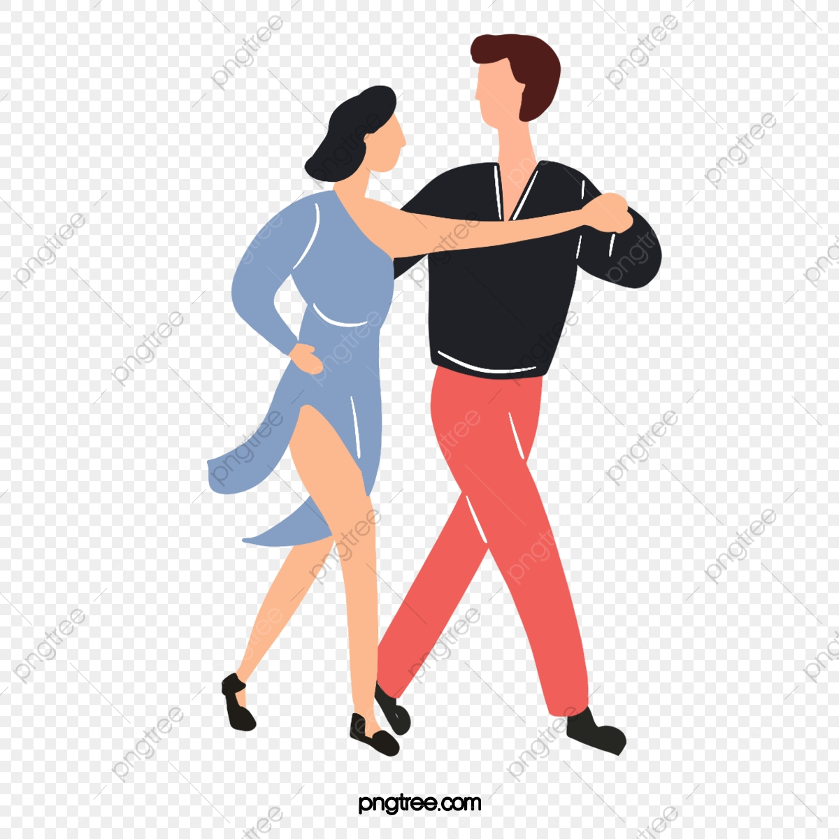 Cartoon Hand Drawn Male And Female Ballroom Dancing Skirt Illustration Skirt Ballroom Dance Suit Png Transparent Clipart Image And Psd File For Free Download