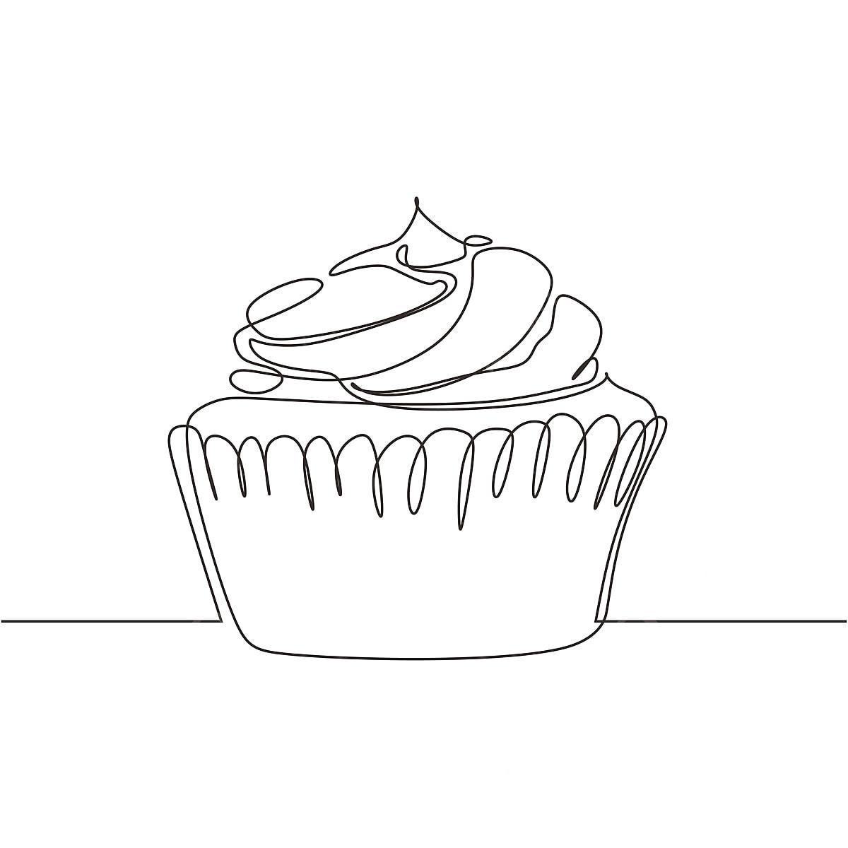 Gambar Cupcake Satu Garisan Menggambar Satu Tangan Berterusan Ditarik Ilustrasi Vektor Reka Bentuk Minimalis Dengan Strok Boleh Diedit Kek Cawan Kek Pencuci Mulut Png Dan Vektor Untuk Muat Turun Percuma