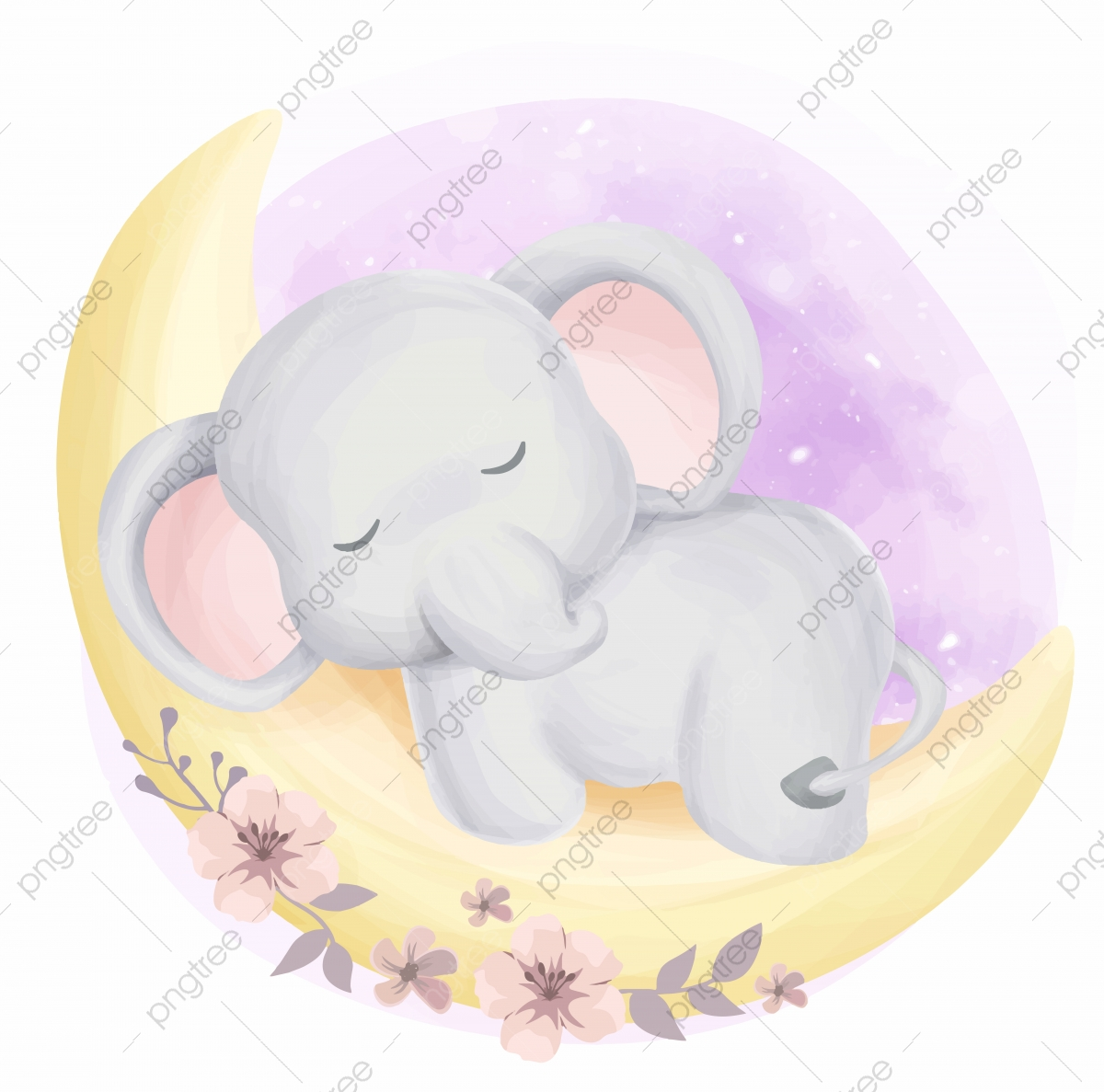 Cute Baby Elephant Sleepy On Moon Baby Elephant Clipart Adorable Animal Png And Vector With Transparent Background For Free Download It's high quality and easy to use. https pngtree com freepng cute baby elephant sleepy on moon 5062920 html