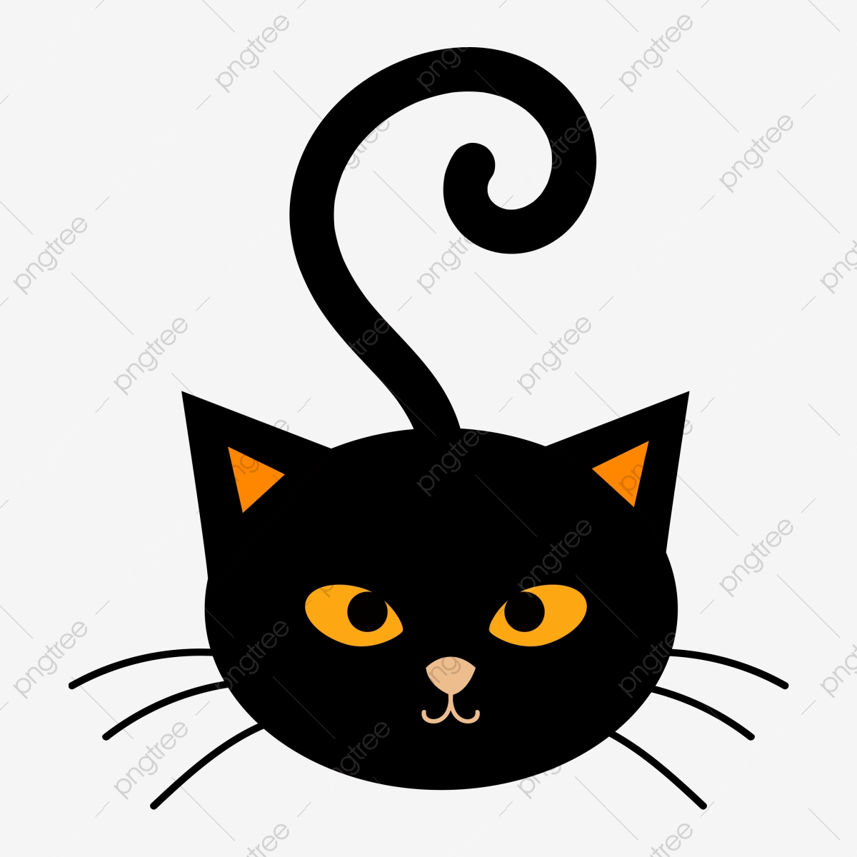 Cute Cat Vector For Halloween Decoration Cat Cat Vector Cat Halloween Png And Vector With Transparent Background For Free Download
