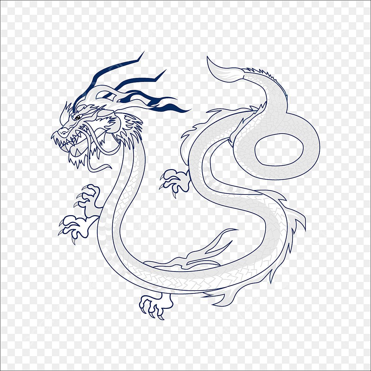 Ligne De Dessin Dragon Chinois La Ligne Des Icones Dessin D Icones Icones De Dragon Fichier Png Et Psd Pour Le Telechargement Libre