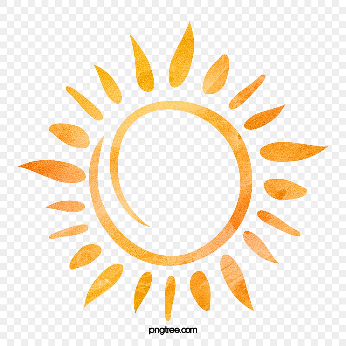 Dessin De Motif Soleil Clipart Soleil Aquarelle Soleil Fichier Png Et Psd Pour Le Telechargement Libre