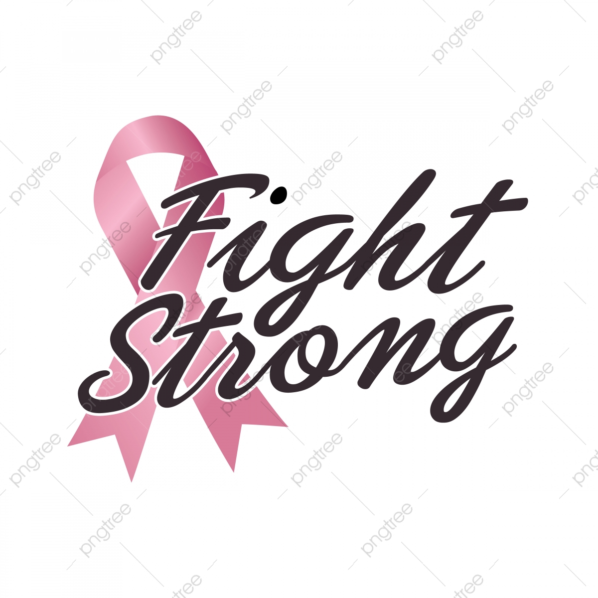 Fight Strong Quote Fight Against Cancer Pink Ribbon Breast Cancer