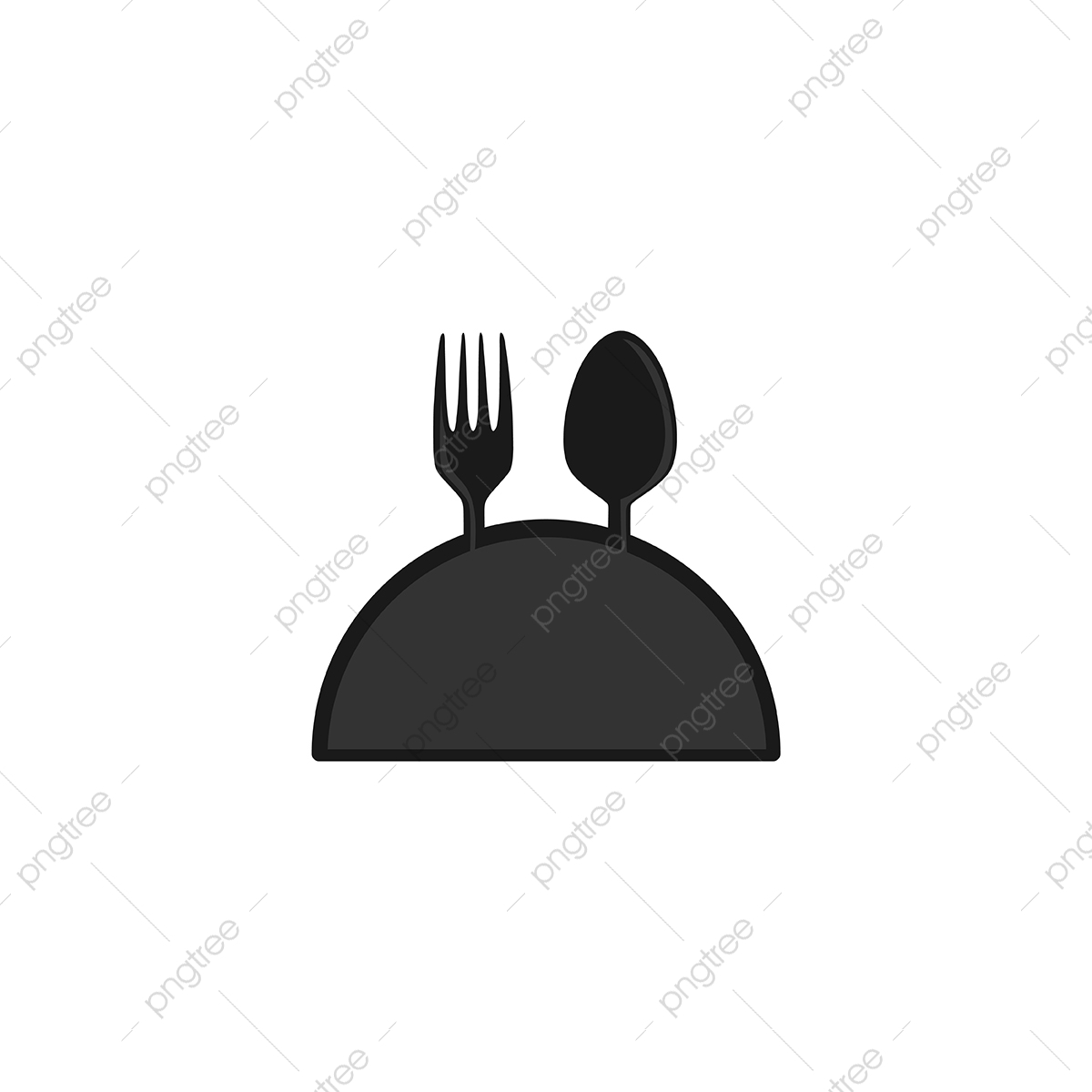 Fork And Spoon With Plate Restaurant Logo Design Inspiration Is Logo Icons Restaurant Icons Inspiration Icons Png And Vector With Transparent Background For Free Download