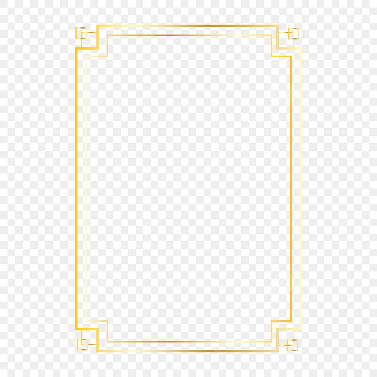 Gold Frame Design Clipart Png Vector Element Gold Wedding