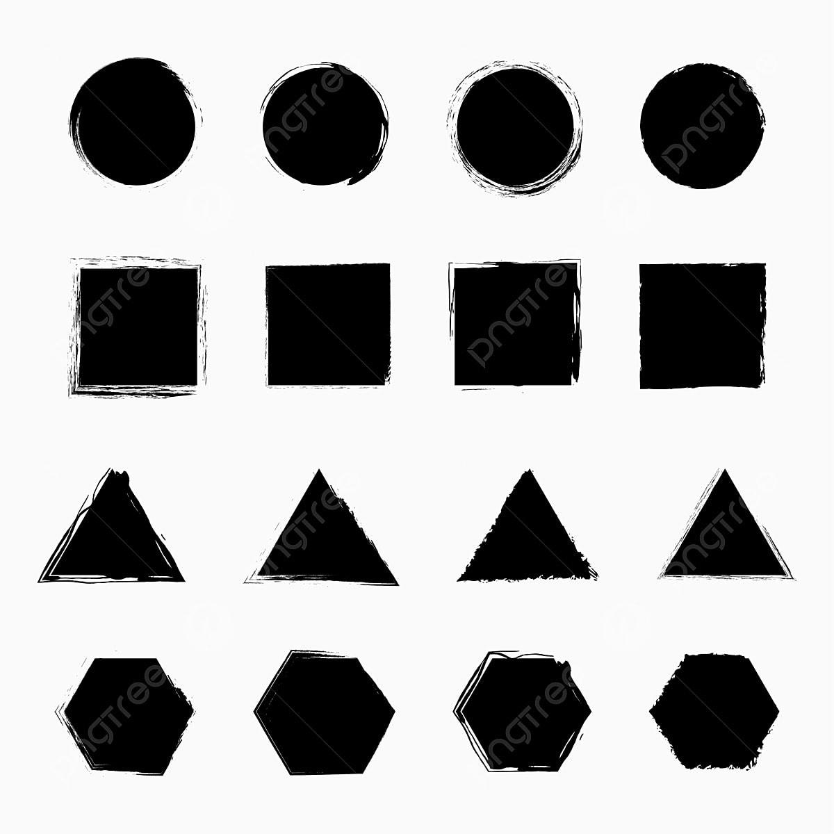 الجرونج أشكال دائرة مسدس مثلث مربع هندسي الجرونج هندسي دائرة Png والمتجهات للتحميل مجانا