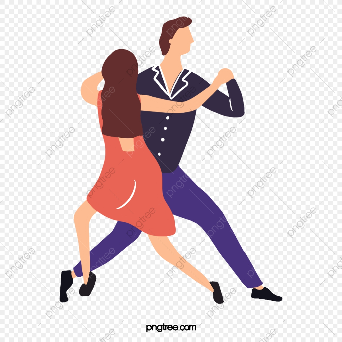Hand Drawn Cartoon Male And Female Ballroom Dancing Illustration Dance Ballroom Dance Skirt Png Transparent Clipart Image And Psd File For Free Download
