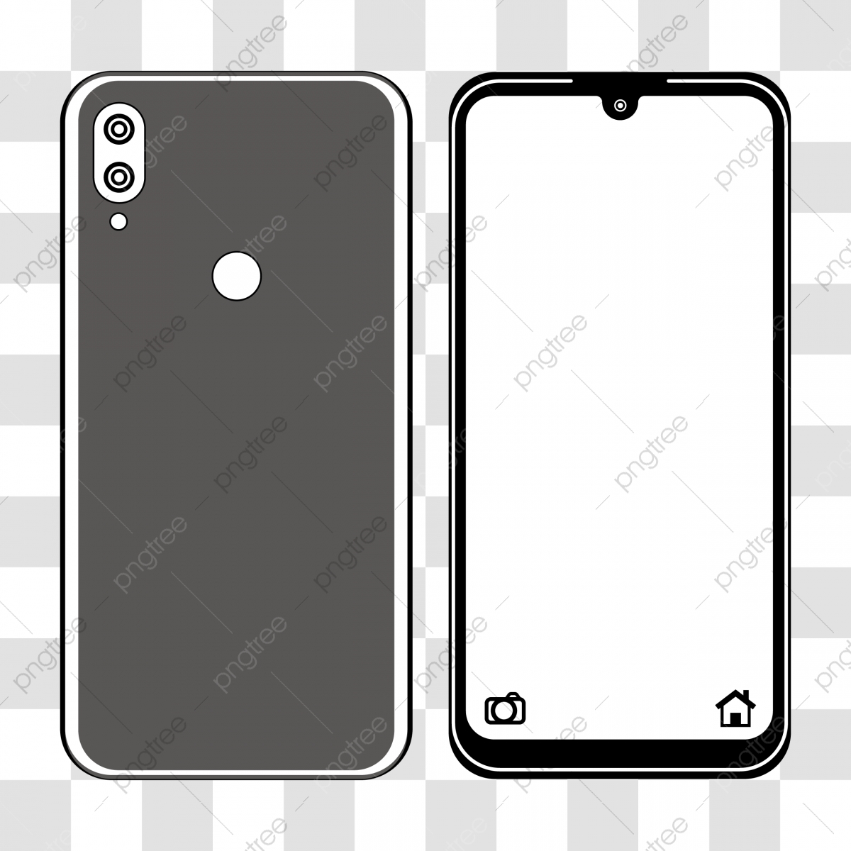 Handphone Icon Isolated Design, Design, Illustration, Vector PNG ...