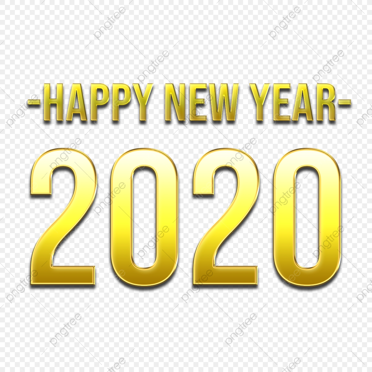 Happy New Year 2020 In Luxurious Golden Style Elegant Text