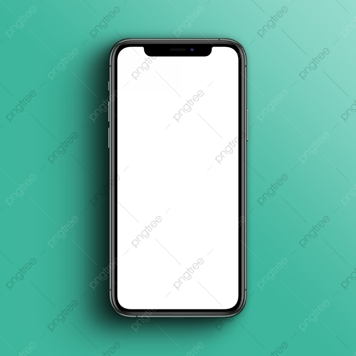 Iphone 11 Pro Mockup With Realistic Shadow Background