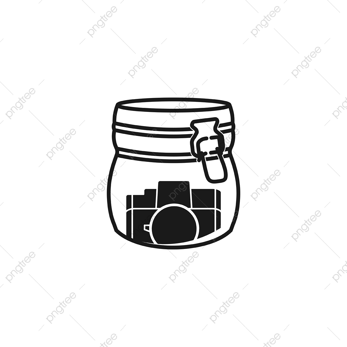 pngtree jar and photography icon logo design inspiration png image 5008781