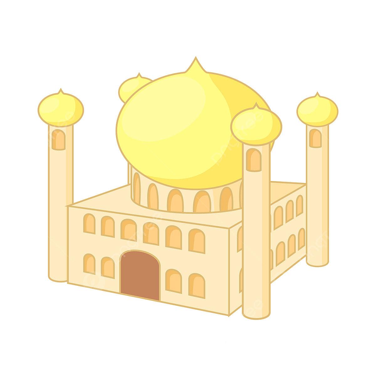 Jumeirah Masjid Dubai Ikon Gaya Kartun Menara Masjid Kartun Png
