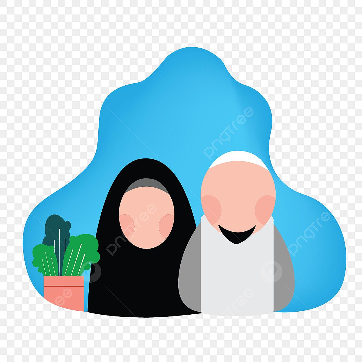 Gambar Ilustrasi Keluarga Muslim Vektor Ilustrasi Keluarga Png Dan Vektor Untuk Muat Turun Percuma